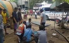 หวิดดับ!! หนุ่มกัมพูชาตกจากรถโฟล์คลิฟท์ ถูกแผ่นเหล็กหนักเกือบ 200 กก. ร่วงทับ!