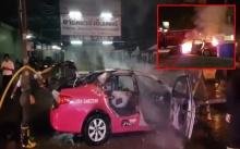 โชเฟอร์แท็กซี่สุดเซ็ง!! เพิ่งซื้อรถมาแค่ 10 วัน จู่ๆไฟลุก เผาวอดทั้งคัน!!