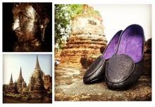 ชาวเน็ตรุมจวกเว็บไซต์บริษัทปินส์ ถ่ายแคตตาล็อกโชว์ภาพรองเท้าในโบราณสถานอยุธยา