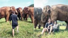 สงสารช้างไทย!!! หนุ่มแคนาดาระดมทุนไถ่ช้างวัย 80 เหตุโดนล่ามโซ่ ใช้งานหนัก