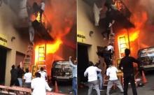 ระทึก ไฟไหม้สตูดิโอสอนเต้น เด็ก ๆ โดดระเบียง หนีตายจ้าละหวั่น