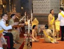 ในหลวง-ราชินี ทรงบำเพ็ญพระราชกุศล วันคล้ายวันพระบรมราชสมภพ รัชกาลที่ 9
