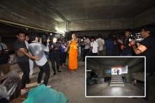 ธรรมกาย พาชมห้องลับใต้ดิน พิสูจน์กระแสข่าวซ่องสุมอาวุธ(ชมภาพ)
