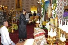 สมเด็จพระเทพฯ  เสด็จบำเพ็ญพระราชกุศล สวดพระอภิธรรมพระบรมศพ