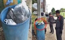 หนุ่ม 25 กลับจากซื้อเกาเหลา สายตาเหลือบเห็นบางอย่างวางบนถังขยะ เอะใจรีบเข้าไปดู เจอเต็มๆ