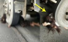 สุดสะเทือนใจ!! รถบรรทุกพ่วง 18 ล้อ ย้อนศรชนรถจักรยานยนต์ หญิงวัย 17 ดับคาที่!!