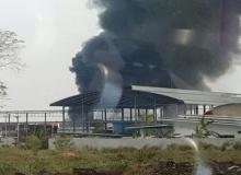 ไฟไหม้โรงงานน้ำมันปาล์มชลบุรีเสียหายวอด!!