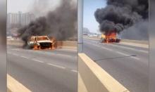 ระทึก! ไฟไหม้รถบนสะพานพระราม 3