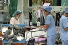สองแม่ลูกยากจน-จับปลาปักเป้าย่างกินประทังชีวิต พิษเข้าร่างช็อกอาการโคม่า!!
