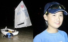 น่าชื่นชม! สุดยอดด.ญ.วัย 13 แล่นเรือใบข้ามอ่าวไทยลำพัง ตามรอย รัชกาลที่ 9