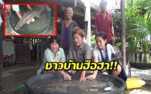 ชาวบ้านฮือฮา!! ทอดแหพบปลาประหลาด!
