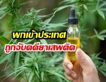 เตือน!! พกน้ำมันกัญชาเข้าประเทศ ระวังถูกจับคดียาเสพติด