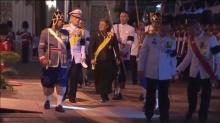 พระบรมฯ-พระเทพฯ เสด็จหน้าพระโกศพระบรมศพ ในพิธีบำเพ็ญพระราชกุศล