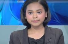 """""""น้องบีม"""" สาวพิการถูกโกง เป็นผู้ประกาศข่าวครั้งแรกกับสื่อดัง"""