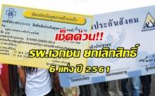 ปี 2561 รพ.เอกชน ยกเลิกสิทธิประกันสังคม-บัตรทอง 6 แห่ง เช็คเลยที่ไหนบ้าง