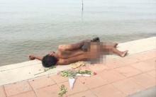 หนุ่มอกหักแก้ผ้าโชว์ นอนริมหาด หวังแฟนสาวที่ทิ้งไปเสียดาย