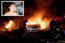 หนุ่มฮีโร่ช่วยสาวรอดหวุดหวิดหลังขับรถชนเสาจนไฟลุก