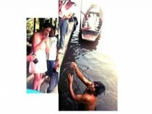 แห่แชร์คนไทยน้ำใจมีล้น...หลังช่วยนักท่องเที่ยวงมแหวนที่หล่นในน้ำ