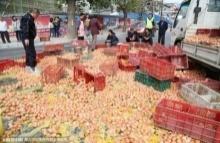 รถขนไข่แหกโค้งไข่ร่วงเต็มถนน ดูกันว่าชาวบ้านแถวนั้นจะทำยังไงกับไข่พวกนี้!!!