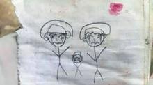 """เด็กหนอเด็ก! ลูกห่มผ้าให้ศพพ่อนึกว่าหลับ เขียนจม.3ฉบับ """"ขอให้อยู่กับหนู-ทำไมพ่อไม่ตื่น"""""""