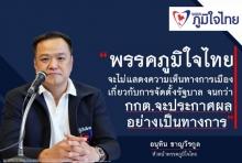 พรรคภูมิใจไทย ชัดเจนแบบนี้! ขอสงวนท่าทีรอ กกต.ประกาศอย่างเป็นทางการ