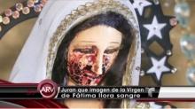 """ขนลุกซู่ รูปปั้น """"พระแม่มารี"""" ร้องไห้เป็นเลือด"""