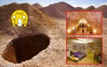 """ตะลึงทั้งโลก!! พบ """"หมู่บ้าน"""" ใต้รูขนาดใหญ่ แทบไม่อยากเชื่อ ว่ามีอยู่จริง!!!"""