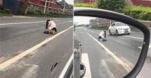 เมื่อหญิงสาวชาวจีนทนไม่ได้ เลยออกมากลางถนน