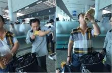 เสียดายของ! สองหนุ่มสุดเซ็ง หอบไวน์แพงขึ้นสนามบินไม่ได้ ดื่มประชดต่อหน้ารปภ.สนามบิน !
