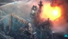ระทึก! ไฟไหม้โรงงานปิโตรเคมี ญี่ปุ่น (มีคลิป)