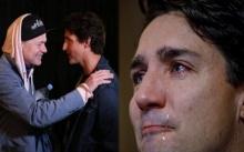 """นายกฯ แคนาดา """"จัสติน ทรูโด"""" น้ำตาไหลพราก อาลัยนักร้องดัง (มีคลิป)"""