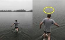 หนุ่มฮีโร่ รีบลงน้ำไปช่วยชีวิตเด็กทารกลอยคอกลางทะเลสาบ แต่เมื่ออุ้มขึ้นมา?