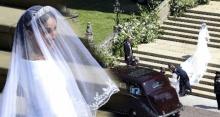 สง่างาม! เผยโฉมและที่มาชุดเจ้าสาว เมแกน มาร์เคิล ชายาเจ้าชายแฮร์รี สวมใส่ ก่อนเดินเข้าสู่ประตูโบสถ์