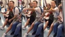 หนุ่มจีนสุดถ่อยถ่มน้ำลายบนรถไฟฟ้า..สุดท้ายโดนแบบนี้เข้าไปไร้คนเห็นใจ(มีคลิป)