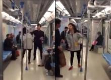 เพี้ยนหนัก!! สาวจีนเดินถ่มน้ำลายใส่ผู้โดยสารรถไฟทุกคน..(มีคลิป)