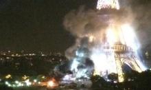 """เคราะห์ซ้ำกรรมซัด!! ไฟไหม้ """"หอไอเฟล"""" ของฝรั่งเศสวันเดียวกับเหตุวินาศกรรมเมือง"""