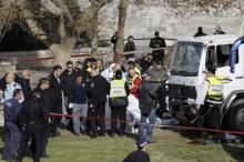 ก่อการร้ายเหิมเกริม!! ซิ่งรถบรรทุกไล่ชนทหาร กลางนครเยรูซาเลม ทหารยิวดับ 4 (มีคลิป)