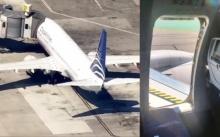 รีบอะไรขนาดนั้น? โจ๋วัย 17 เปิดประตูฉุกเฉินเครื่องบิน แล้วโดดไถลลงไปทางปีก?? (คลิป)