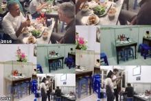 ฮือฮากลางฮานอย!เอากระจกมาครอบโต๊ะที่ 'โอบามา' มานั่งกินเมื่อ 2 ปีที่แล้ว!