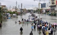 น้ำท่วมในเมืองเจนไนเริ่มคลี่คลายหลังฝนหยุดต
