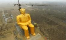 จีนเปิดตัวรูปปั้นเหมา เจ๋อตุง สีทองสูงร่วม 37 เมตร