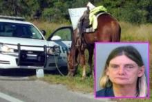 สาวใหญ่วัย53ได้เรื่อง โดนจับข้อหาเมาแล้วขี่ม้า