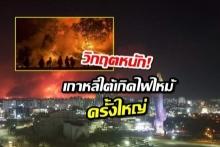 วิกฤตหนัก! เกาหลีใต้เกิดไฟไหม้ป่าครั้งใหญ่ความรุนแรงระดับ 3 เร่งอพยพ ปชช.และนักท่องเที่ยวออกจากพื้นที่เสี่ยง