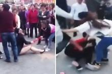 เมียหลวงจับเมียน้อยแก้ผ้ากระทืบซ้ำ แค้นแอบกิ๊กผัว!!!