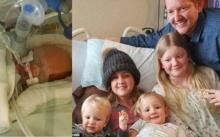 สะเทือนใจ..คุณแม่สละชีวิต!! เลือกคลอดลูกคนที่ 6 แทนที่จะทำคีโมรักษามะเร็งสมอง (มีคลิป)