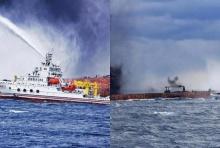 จีนยันค้นหาผู้สูญหายในเหตุเรือขนน้ำมันอิหร่านลุกไหม้ ถึงเเม้จะมีหวังแม้เพียง 1% ก็ตาม
