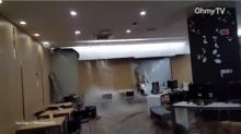 เหลือเชื่อ !! น้ำท่วมห้องสมุดมหาวิทยาลัยในกรุงโซล !!(มีคลิป)
