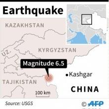 จีนเซ่น 1 ศพ เหตุดินไหวแรง 6.5 เขย่าซินเจียง สะเทือนถึงปากีฯ
