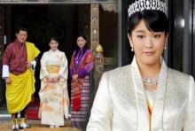 """พระราชาธิบดีจิกมีฯ ทรงต้อนรับ """"เจ้าหญิงมาโกะ"""" เสด็จเยือนภูฏาน"""