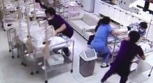 วงจรปิดจับภาพ พยาบาลเกาหลีช่วยกันปกป้องทารกแรกเกิดขณะเกิดแผ่นดินไหว (คลิป)
